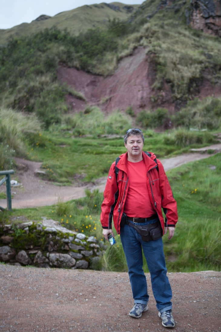 Bogdan Fiedur of Adlandpro hiking in Peru