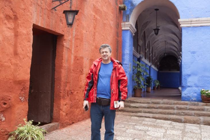 Bogdan Fiedur in a monestary in Peru