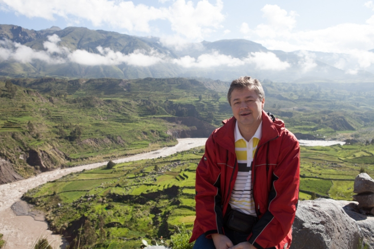Bogdan Fiedur of Adlandpro in the Andes Mountains in Peru