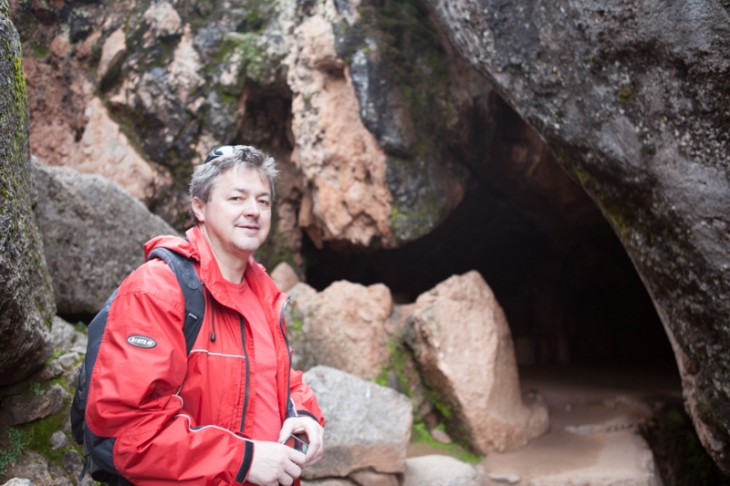 Bogdan Fiedur of Adlandpro near a cave in Peru