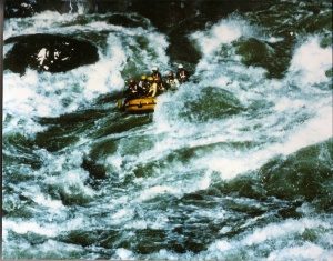 Bogdan Fiedur during Canoe expedition in Himalaya 1986